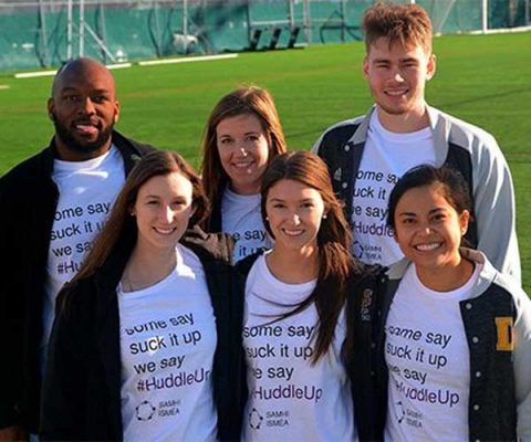 Athletes making a difference in student mental health